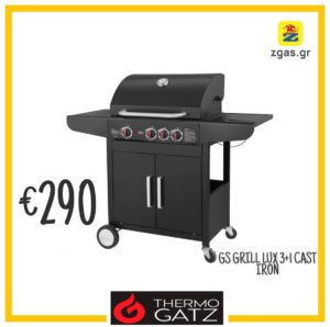 thermogatz gs grill lux 3+1 cast iron